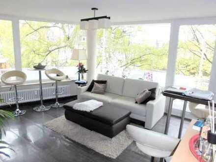 Möblierte 2 Zimmerwohnung mit Balkon im Zooviertel, also Koffer packen und einziehen.