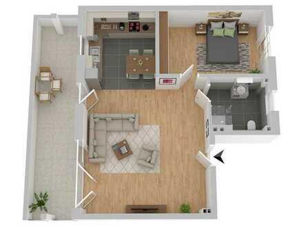 F&D | 2-Zimmer-Penthouse mit schöner Dachterrasse