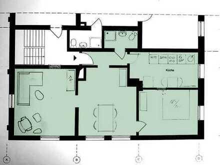 Möblierte 75qm 3-Zimmer-Wohnung mit EBK, Erstbezug nach Sanierung