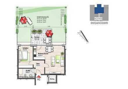 Erdgeschosswohnung mit Terrasse (Nr. 2)