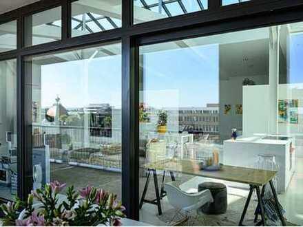 Exklusives DG-Loft mit Glaskuppel auf dem Hanomag-Areal für Designliebhaber
