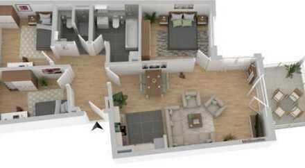 Attraktive 4-Zimmer-Wohnung mit Balkon und EBK Baujahr 2019