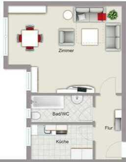 Perfekte 1-Zimmer Wohnung in Top-Lage von Seeheim-Jugenheim