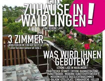 Ein Zuhause in Waiblingen - 3 Zimmer mit Balkon & Stellplatz