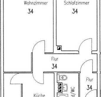Voll möblierte und gepflegte 2-Zimmer-Erdgeschosswohnung 699€ kalt + 215€ für Möbel