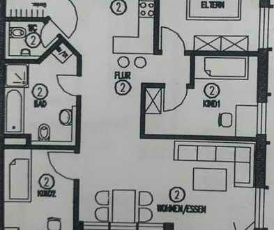 Stilvolle, neuwertige 4-Zimmer-Wohnung mit Balkon in Esslingen (Kreis)