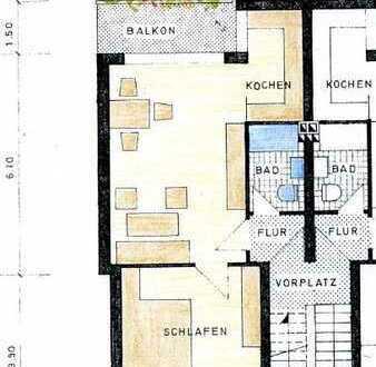 2 ZKB-Wohnung mit Balkon in zentrumsnaher Lage