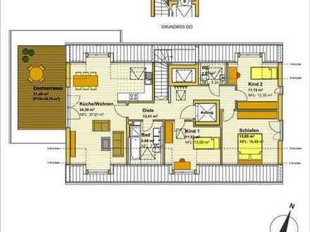 Provisionsfrei: Neubau, ruhig gelegene 4-Zimmer-Penthouse in München-Trudering (S4 & U2)