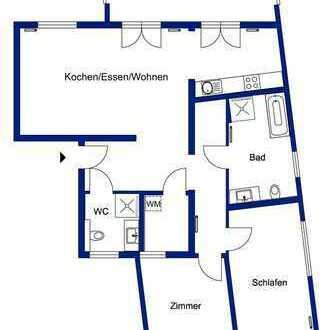 Moderne 3-Zimmer-Wohnung mit viel Platz