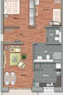 Neuwertige 3-Zimmer-Wohnung mit Balkon und Einbauküche in Heidelberg