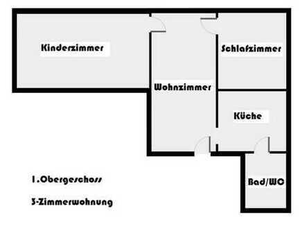 3-Zimmer Wohnung mit Garage