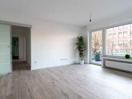 Erstbezug nach Sanierung: schöne 3-Zimmer-Wohnung mit EBK und großem Balkon zentral in Moers