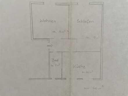 Helle 2-Zimmer-Wohnung in Donaueschingen