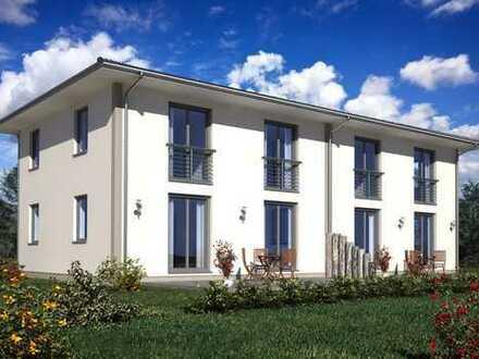 Doppelhaushälfte in moderndem Stadthaus-Stil