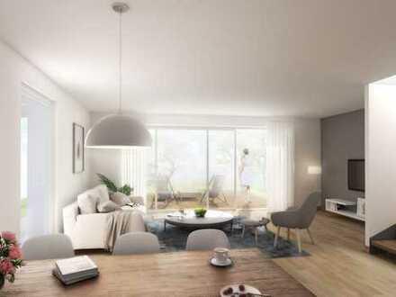 Projektierte Doppelhaushälfte mit schickem Design und großem Garten in Alsbach