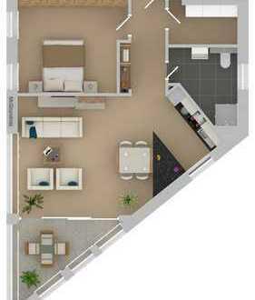 WE03: 2 Zimmer mit Loggia