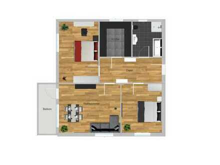 Schöne 3 Zimmer Wohnung in Böblingen mit Balkon und TG Platz