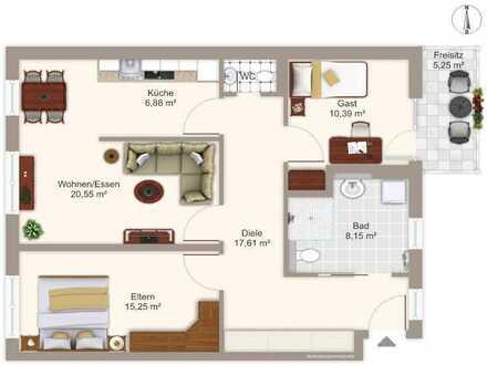 Geräumige 3-Zimmer Seniorenservicewohnung in Fürth - Neubau