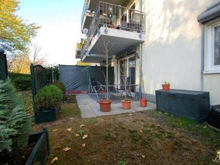 Attraktive 3-Zimmer-Erdgeschosswohnung mit Terrasse und Garten!