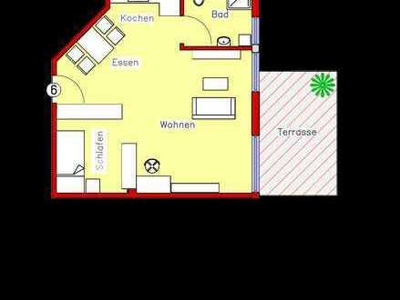 Erstbezug: Schönes Appartement mit Parkett, Einbauküche und Terrasse (R6)