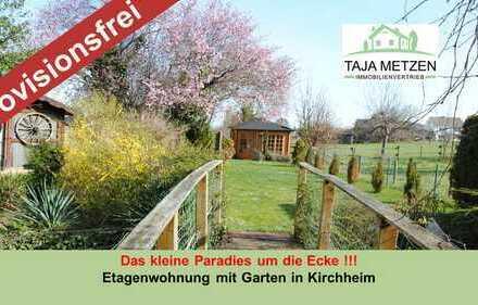 Das kleine Paradies um die Ecke ! Etagenwohnung mit Garten in Kirchheim !
