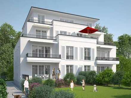 Wohnung im Hochparterre mit Terrasse und Gartenanteil