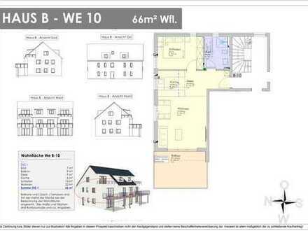 NEUBAU! 66m² OG-Wohnung mit 18m² XXL-Balkon - Provisionsfrei ! (B 10)
