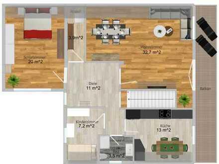 Ansprechende 3,5-Zimmer-DG-Wohnung mit großen Balkon in Seestetten/Sandbach