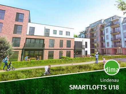 ROHBAU | SMARTLOFTS U18 | EG-Wohnung im Loftstil mit Terrasse, eigenen Gartenanteil, Tiefgarage usw.