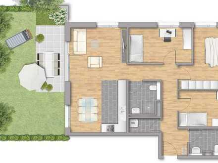 Großzügige 4-Zimmerwohnung mit Garten!