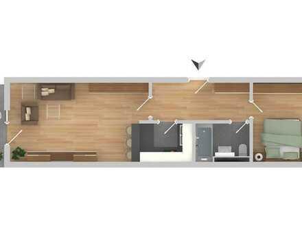 Helle 2-Zimmer Wohnung im Grünen