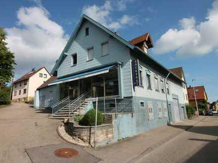 Wohn- und Geschäftsgebäude zu verkaufen! Bäckerei mit Wohnung, Garten und Scheune!