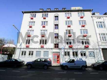 Urbaner Hotspot umgeben vom Rhein: Vermietetes Büro in Düsseldorf - Nutzung als Wohnung möglich