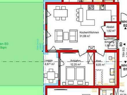 In ruhiger Südlage - 2 Zimmer Erdgeschoss mit Garten zum 01.08.21 Erstbezug