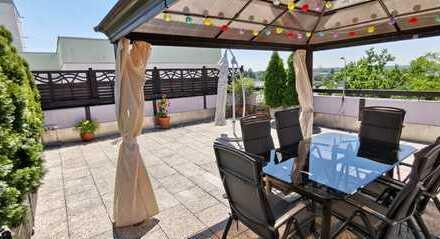 Traumhafte 3-4 Zi. Dachterrassen-Wohnung,neu renoviert,großzügige Aufteilung,perfekte Anbindung. VB