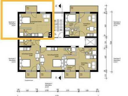 Jetzt vorab sichern - ideale Pendlerwohnung: neu sanierte 1 Zimmer Whg mit Balkon, Nähe HBF