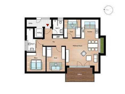 Dachgeschoss mit Blick übers Remstal - stufenloser Zugang!