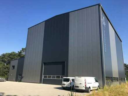 Montagehalle mit 50t und 10t Brückenkran / Hakenhöhe 12,5m