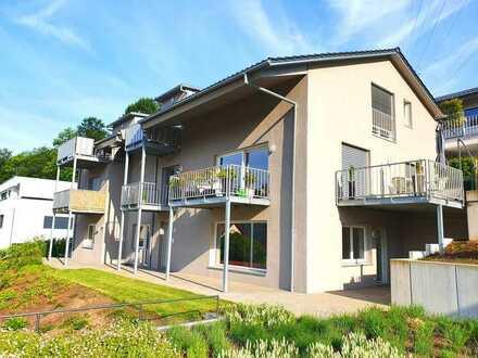 +++ sonnige und exklusive 3-Zi.-Whg in Bestlage mit großer Terrasse, Fernsicht und Garage +++