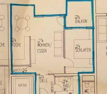 Ruhige und helle Wohnung (63,5 qm) zur Miete in Lauffen