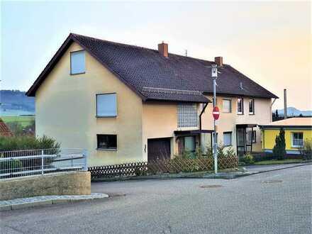 Doppelhaushälfte 2-3 Familienhaus, schöne Aussicht in Mögglingen