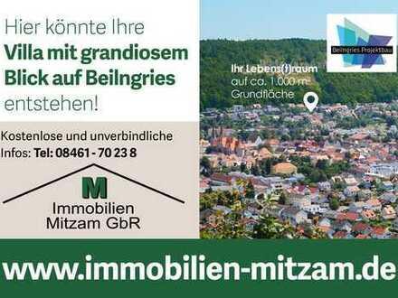 EXKLUSIV - EINMALIG - NEU: Villengrundstück mit Neubau in Südwestlage mit traumhaftem Ausblick