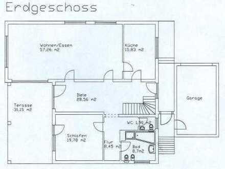 Wohnung 2-geschossig mit Garage und Garten
