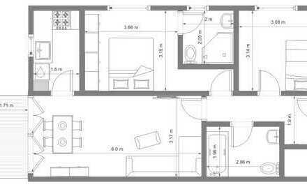 Exklusive, neuwertige 3-Zimmer-Wohnung mit Balkon in Germering