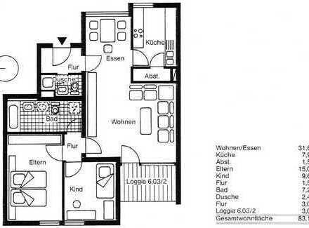 3,5-Zimmer-Wohnung mit Balkon in Stuttgart Botnang