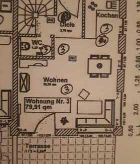 Erstbezug: attraktive 3,5-Zimmer-Maisonette-Wohnung mit Einbauküche und Terrasse in Gunzenhausen