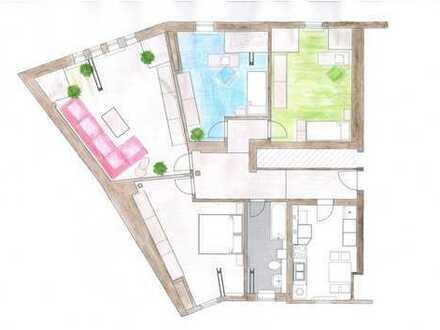 Erstbezug nach Sanierung: behagliche 4-Raum Dachgeschoßwohnung in einem wunderschönen Altbau