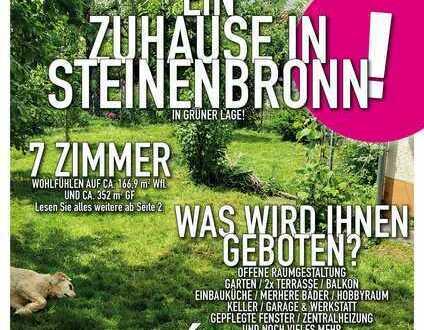 Ein Zuhause in Steinenbronn - In 2. Reihe mit Garten und 2x Terrasse