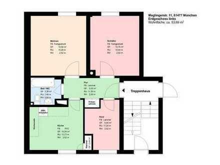 *2,5-Zimmer Wohnung*möbliert*sep. Küche mit EBK*Bad mit Badewanne*Kellerabteil*