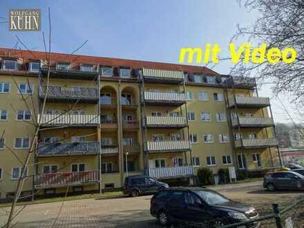 Große zentrumsnahe 3-Raumwohnung mit kleinem Balkon und Stellplatz